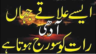 Some places where The Sun and The Moon never Sets in Urdu/Hindi - Interesting Facts of Earth