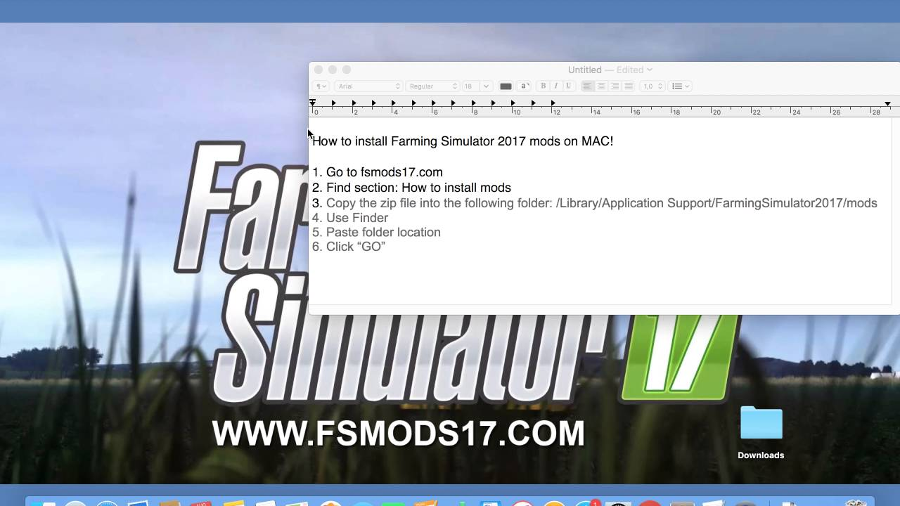 How to install Farming Simulator 2017 Mods on Mac
