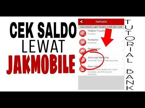 Cek Saldo Di Jakmobile Banking Dki Youtube