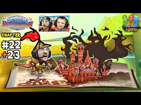 Lets Play SKYLANDERS SUPERCHARGERS Chapter 22 & 23: We're In A Book!! Spell Punk Library Fun!
