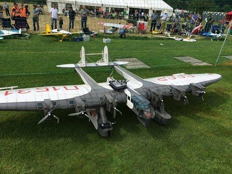 Huge Rc Kalinin K-7 CCCP,6m Wingspan and 7 Motors at Kulmer Air Show 2014 Pilot is Rainer Mattle