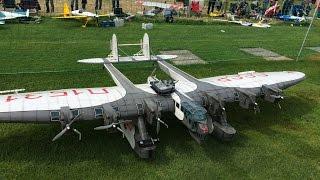huge rc kalinin k 7 cccp 6m wingspan and 7 motors at kulmer air show 2014 pilot is rainer mattle