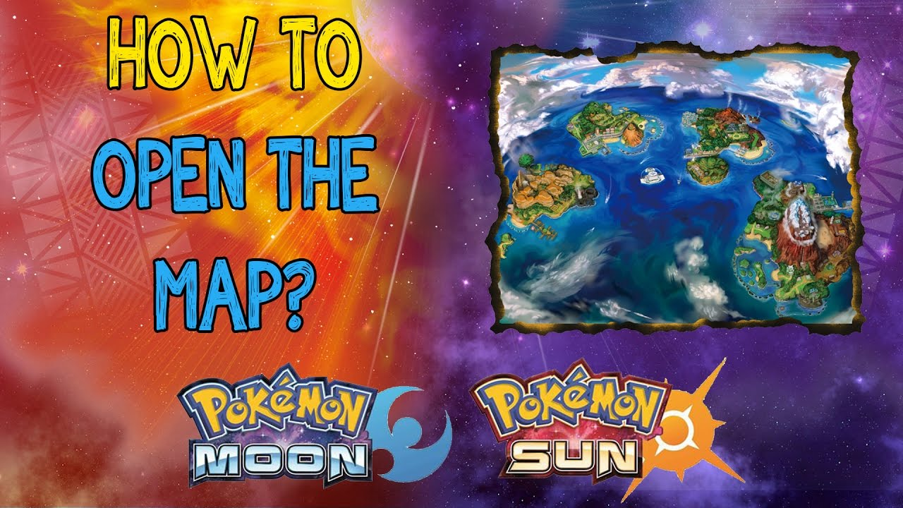 is the map pokemon sun moon how to open the map youtube