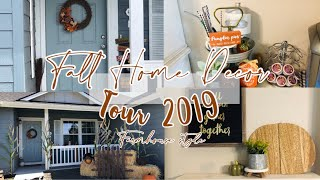 Fall Home Decor Tour 2019  | Farmhouse Inspired 🍁