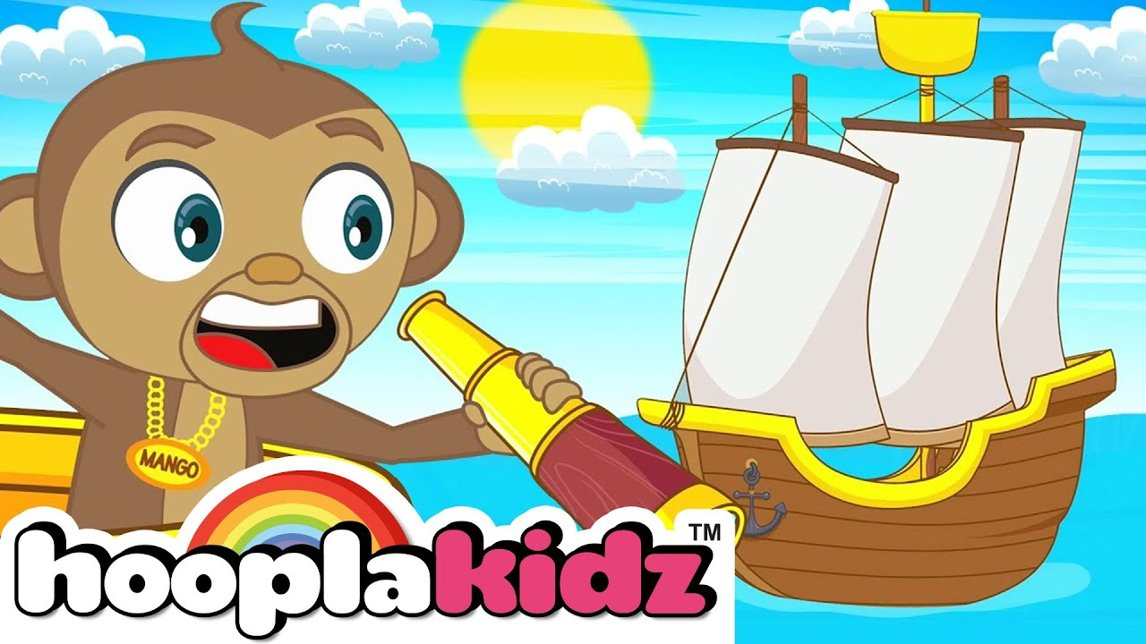 I Saw A Ship Sailing Song | HooplaKidz Nursery Rhymes & Kids Songs
