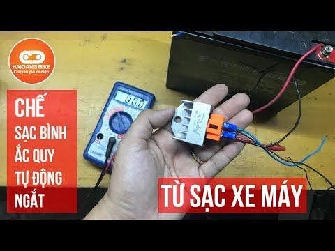 # 4 Tuyệt Chiêu Chế Sạc Bình ắc Quy Tự động Ngắt Sử Dụng Sạc Xe Máy - Xe Điện Hải Đăng