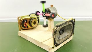 Science Electric Free Energy Generator Using Magnet Self Running DC Motor With Mini Speaker At Home