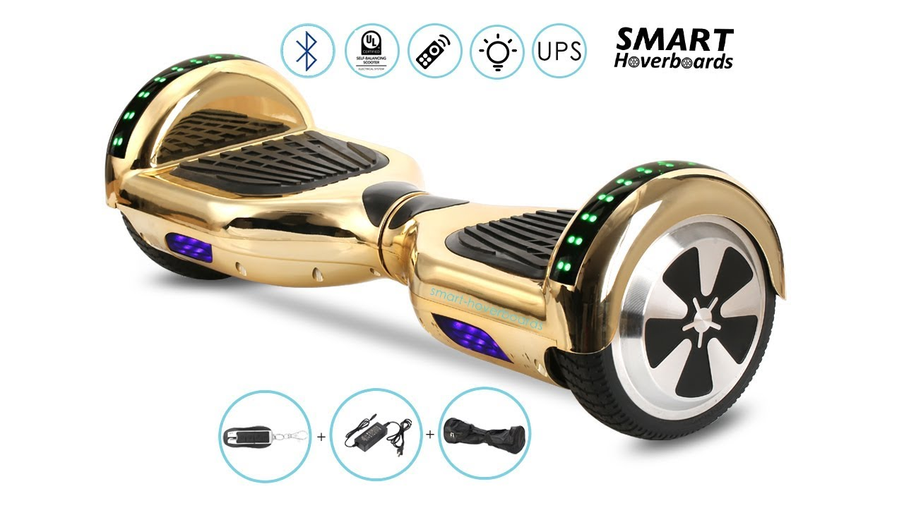 6 5 Inch Bluetooth Chrome Hoverboard With Led And Remote Unboxing Youtube