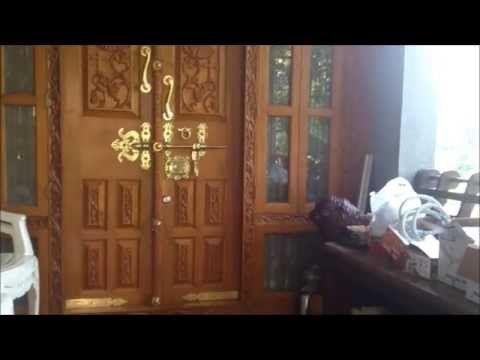 Kerala House Front Door Design