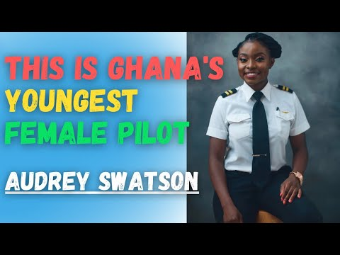 This is Ghana's Youngest Female Pilot I Audrey Esi Swatson