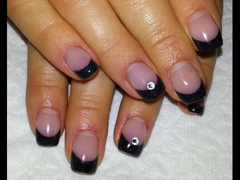 Black French Nail Design Easy Quick And Subtle Style