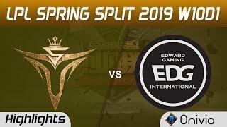 V5 vs EDG Highlights Game 3 LPL Spring 2019 W10D1 Victory5 vs Edward Gaming LPL Highlights by Onivia