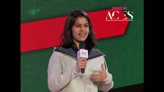 Manu Bhaker accepts Best Young Athlete award