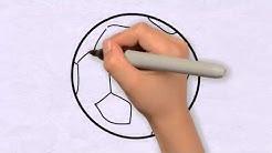 Ball Zeichnen in 50s - Zeichnen lernen für anfänger & kinder ★ Wie zeichnet man