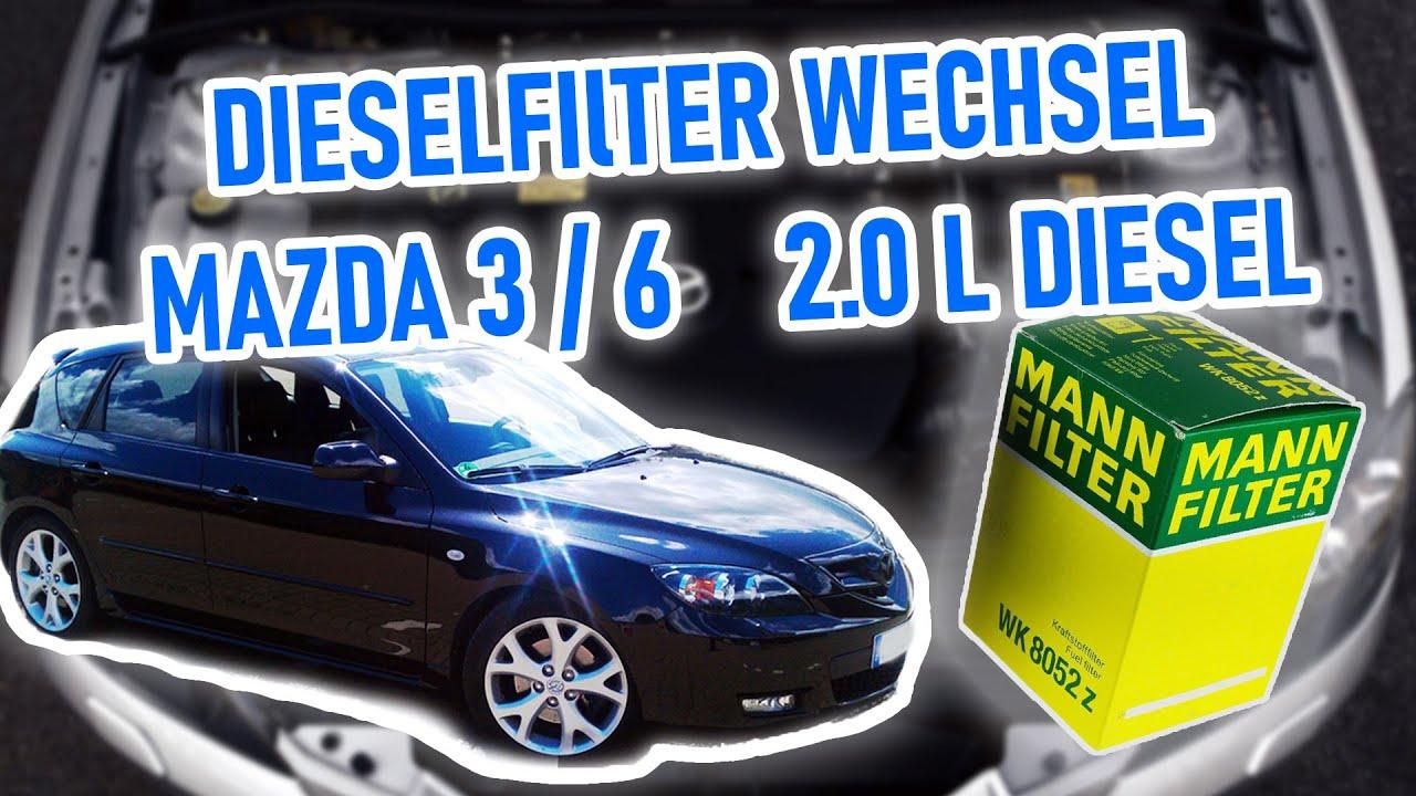 2,2 MZR-CD 2009 Dieselfilter Mazda 3 BL BM 2,2 D