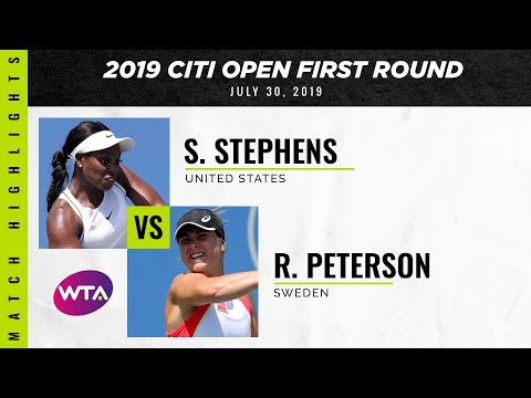 Sloane Stephens vs. Rebecca Peterson | 2019 Citi Open First Round | WTA Highlights