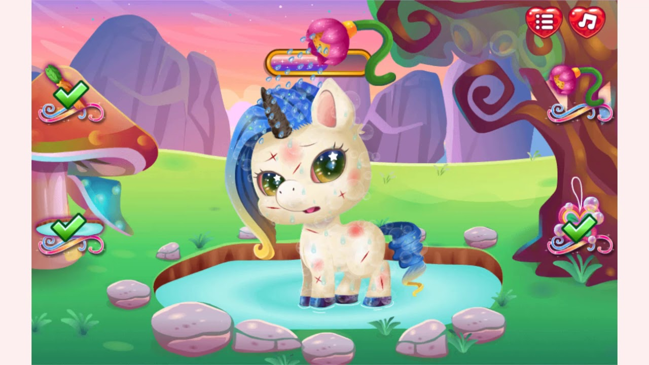 How to play Cute Unicorn Care game | Free online games | MantiGames com