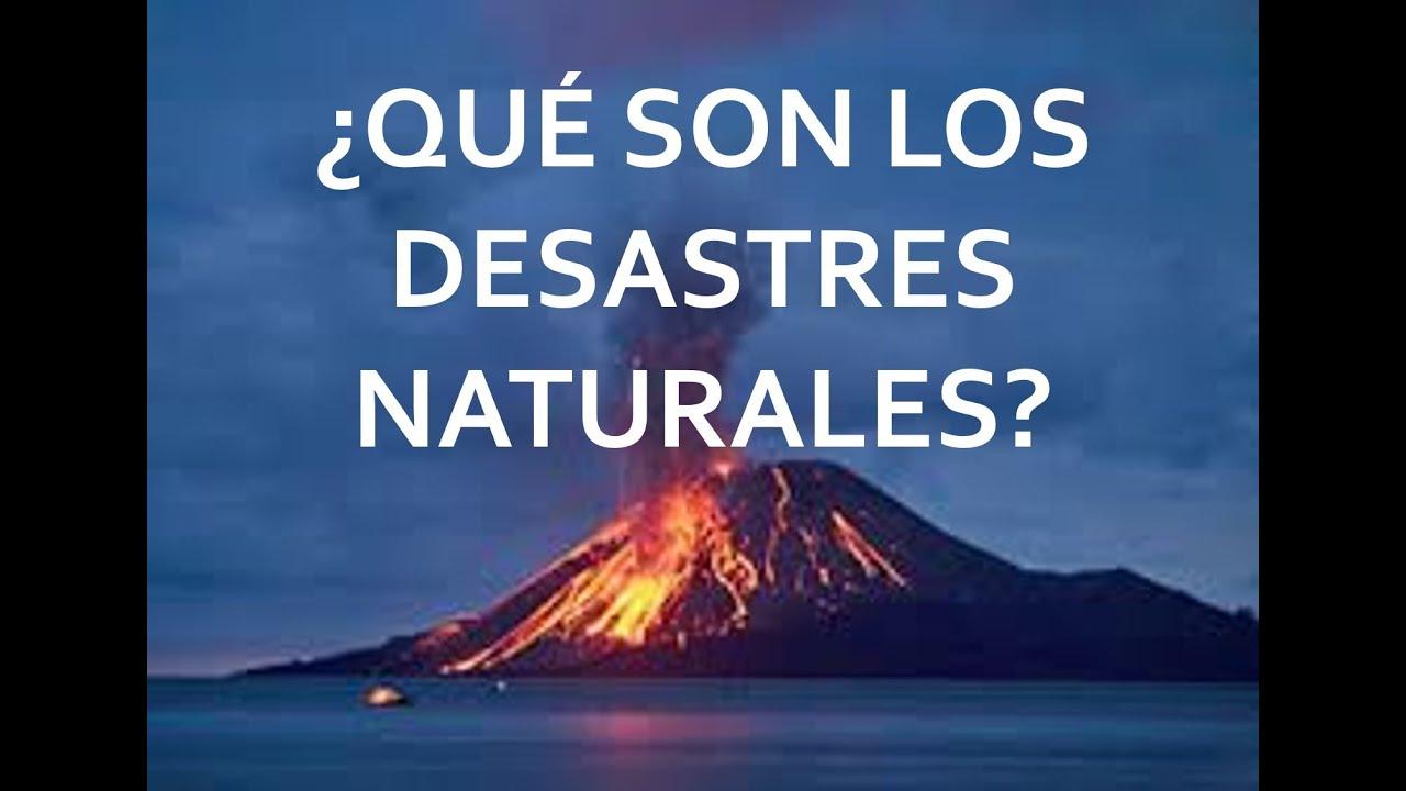 Que son los desastres naturales youtube - Que alimentos son antioxidantes naturales ...