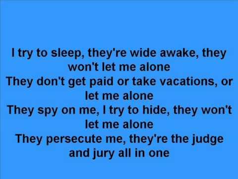 The Dream Police Cheap Trick lyrics onscreen