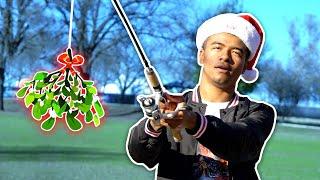 mistletoe-on-a-fishing-rod