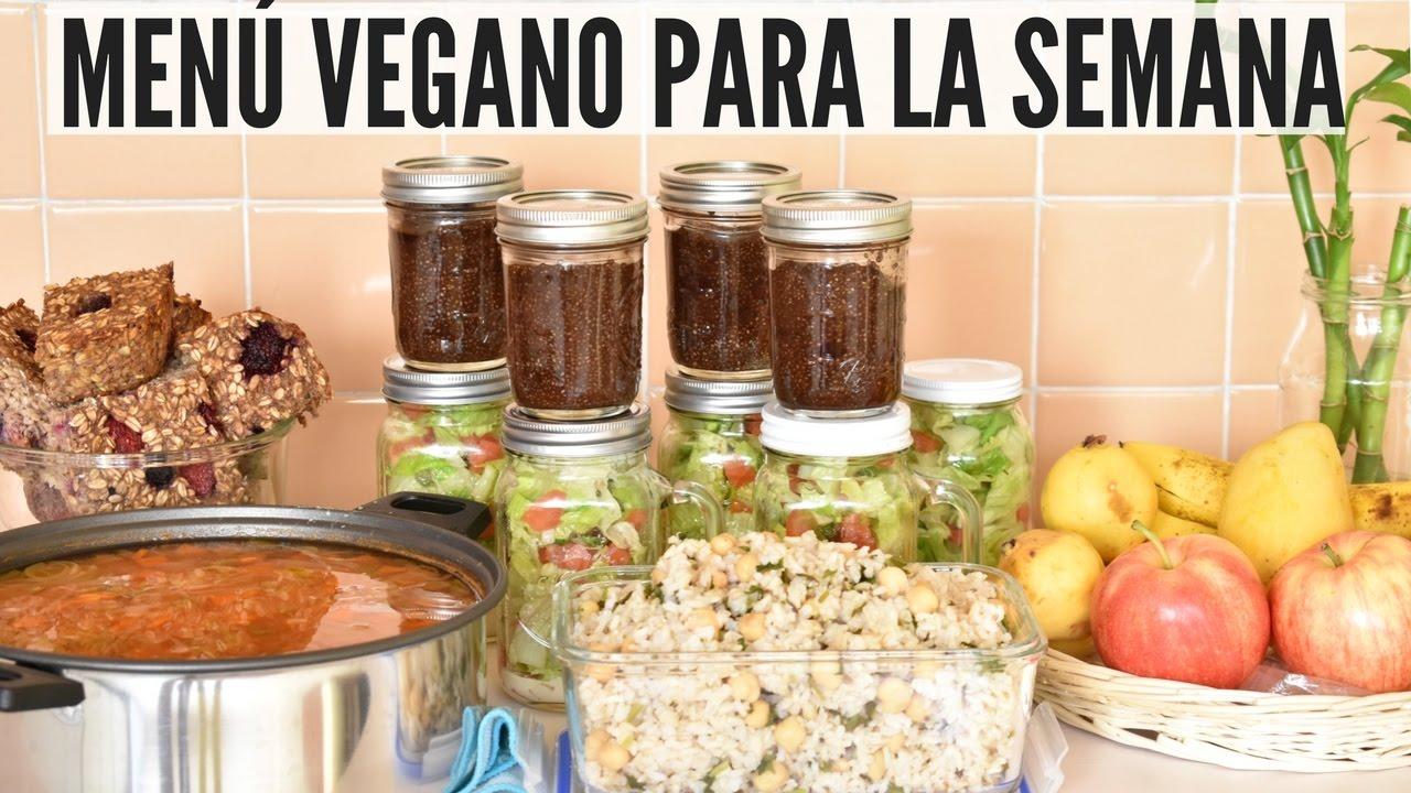men vegano para la semana 1 meal prep vida vegana
