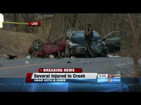 Multiple injuries in North Omaha crash