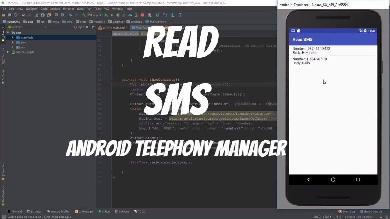 Android phonestatelistener/ phone call broadcast receiver tutorial.