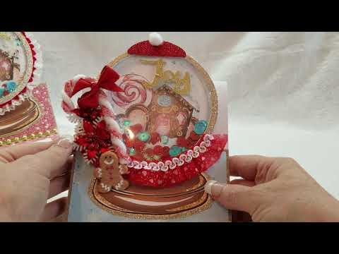 Candyland Christmas Shaker Globe Cards