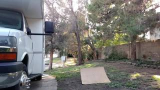 Traxxas Backslash jumping into tree
