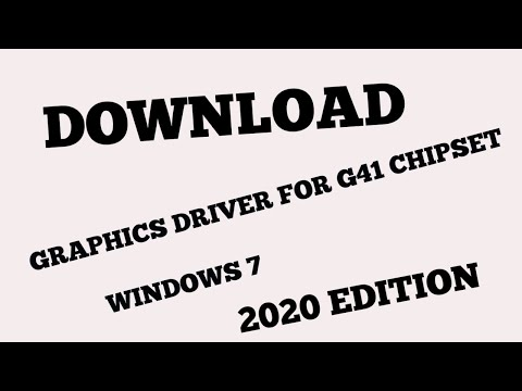 DOWNLOAD GRAPHICS DRIVER FOR INTEL G41 CHIPSET(windows 7)