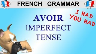 French Conjugation - Avoir - Imperfect Tense  To Have