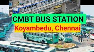 Koyambedu CMBT bus Stand and Chennai Metro Rail passing at CMBT