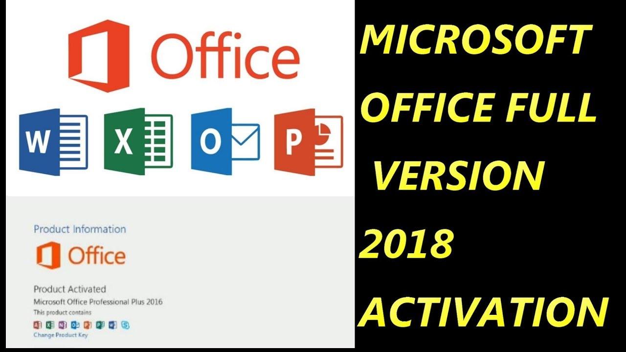 change office 2018 product key