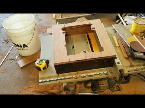 Custom turntable plinth. Dual 1009. Part 2 of 4.