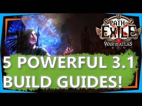 PoE 3.1 Builds - 5 NEW Endgame, Path of Exile Abyss League Build Guides! (2018)
