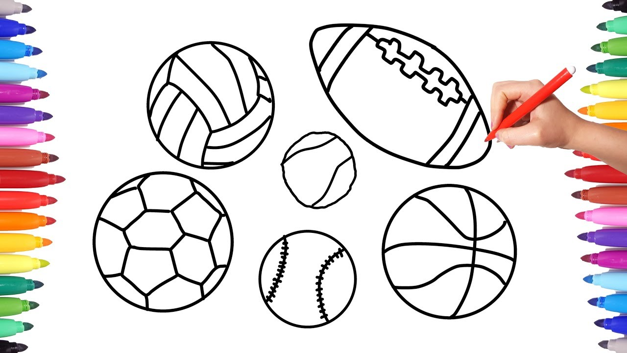 Printable Sports Balls Coloring Page for Kids – SupplyMe | 720x1280
