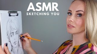 ASMR Sketching You Roleplay ✏️ Super Relaxing 📜 Whispered Ear to Ear