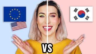 ♦ EUROPA vs KOREA - PÓŁ TWARZY challenge ♦ Agnieszka Grzelak Beauty