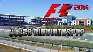 MENUDO MOD!!!! ¿¿28 CIRCUITOS EN F1 2014??