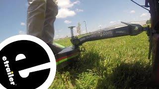 Rack em E-Z Ride Lawn Mower Sulky Wheel Lawn Test