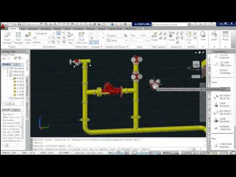 AutoCAD Plant 3D - Victaulic Fire Hydrant Piping modelling
