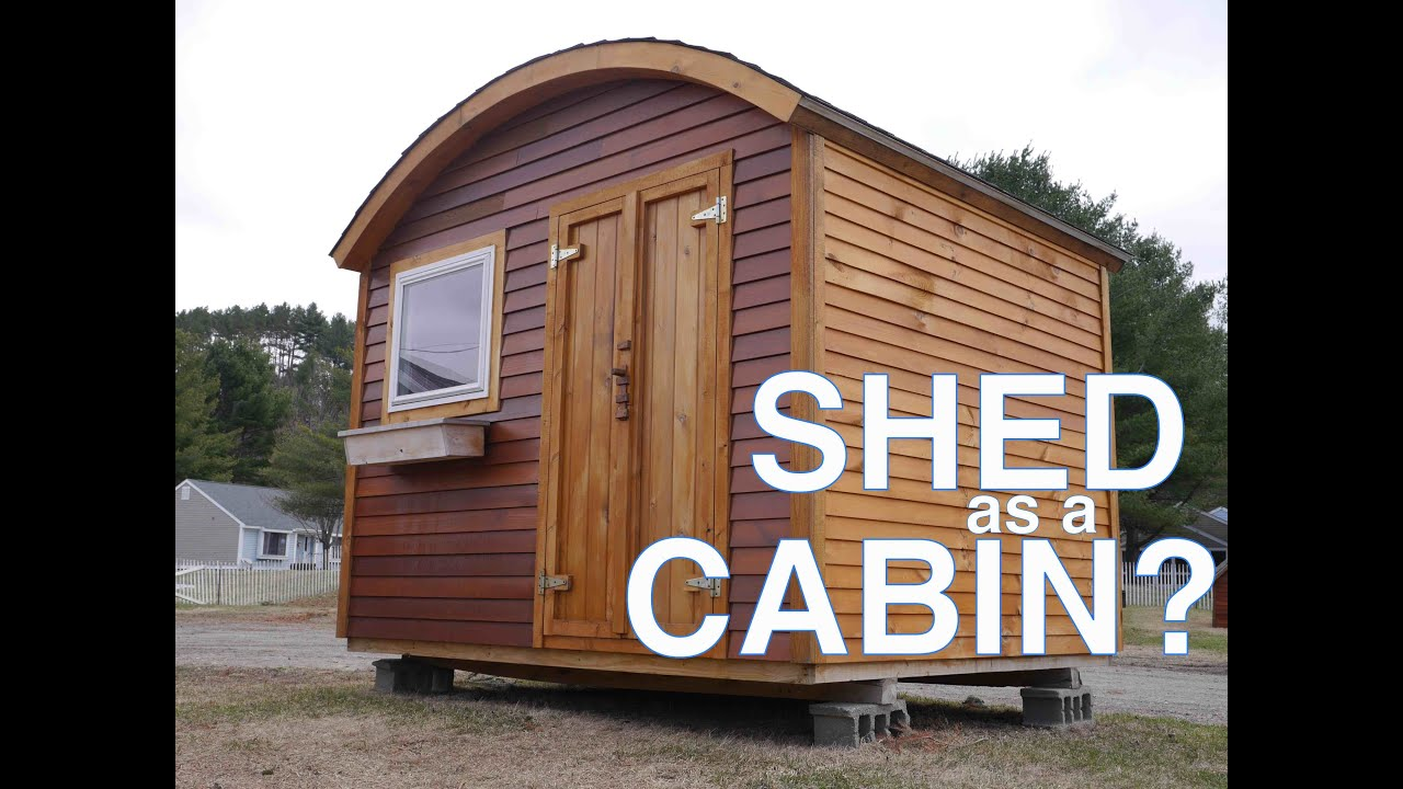 Vacation Cabin Or Tiny House Potential A Bow Roof Shed In