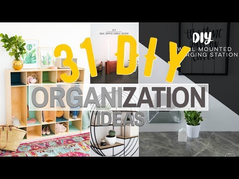 31 DIY Organization ideas