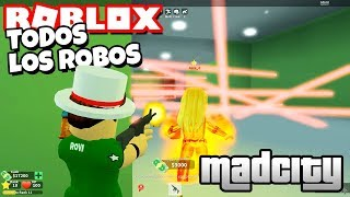 ALL THE ROBOS of MAD CITY in my FIRST TIME Rovi23 Roblox