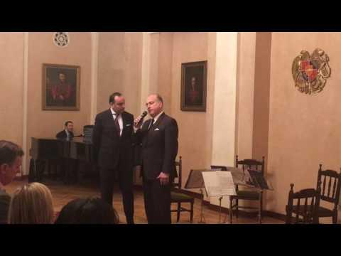 Открытие концерта Государственного струнного квартета имени Комитаса в Посольстве РА в РФ