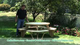 Treated Pine Octagon Walk In Picnic Table From Fifthroom.com