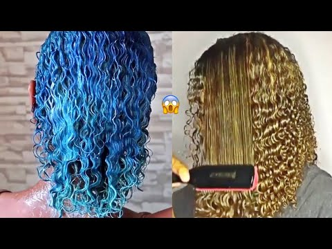 Curly Hair Tutorial Compilation - 2018 Hairstyles