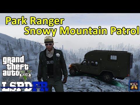 Overland Jeep Gladiator Park Ranger Patrol in a Snow Storm | GTA 5 LSPDFR Episode 361