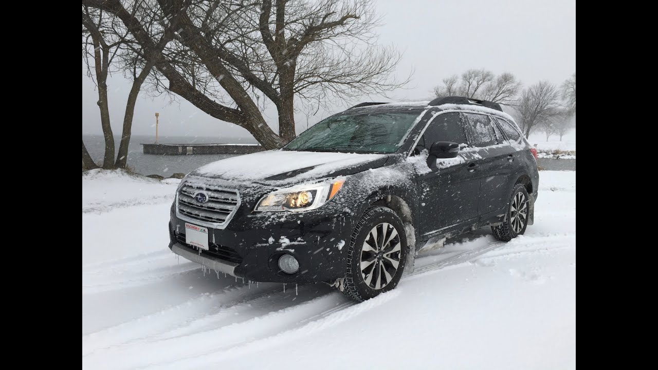 2016 Subaru Outback 2.5 I Premium >> 2016 Subaru Outback Snow Drive in Wisconsin - YouTube