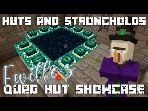 Quad Witch Huts And Strongholds - Minecraft 1.13 Seed Showcase